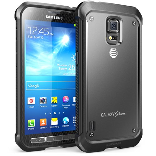 Supcase Schutzhülle für Samsung Galaxy S5 Active (für sm-g870 a Wasser- und Stoßfest Version Smartphone) - Unicorn Beetle Premium Hybrid Schutzhülle (nicht fit SAMSUNG GALAXY S5 Regular Version i9600), schwarz (Phone Cases Galaxy S5 Active)