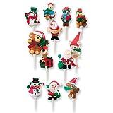 72 Weihnachtsfiguren | Kunststoff Einstecker