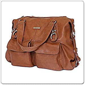 Vanchi NU Leather Victoria Shopper (Tan)