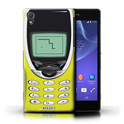 Kobalt® Imprimé Etui / Coque pour Sony Xperia Z2 / Nokia 3310 noir conception / Série Portables rétro Nokia 8210 jaune