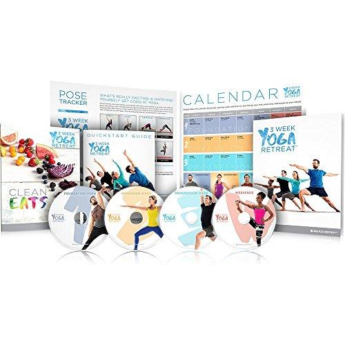 Beachbody 3 Wochen Yoga Retreat Programm einschließlich 21 Klassen unter 30 Minuten Jetzt mit Ernährungsführer und Klassenkalendar