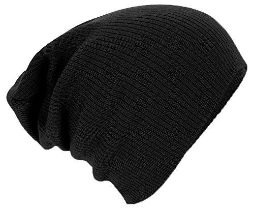 Beechfield B461.BLK Slouch Bonnet Mixte, Noir, Taille Uniqu