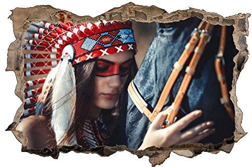 Für Pferde Kostüm Kreative - Indianer Pferd Wandtattoo Wandsticker Wandaufkleber D1052 Größe 60 cm x 90 cm