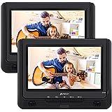 Pumpkin Lecteur DVD Portable Double ecran Voiture 9 Pouce supporte USB SD MMC Autonomie de 5 heures avec Etui de Montage dans Voiture (Un Lecteur DVD et Un Moniteur)