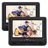 PUMPKIN Twin Screens Portable DVD Player for Kids 9 Inch Car Headrest Monitor