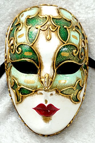 Bluemoon Venice - Maschera Veneziana - Volto Cordone Verde