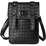 VanGoddy Braid Shoulder Pouch Wallet Bag Case For BLU Studio 5.5 HD / BLU Life XL / BLU Neo XL / Neo 5.5 / Studio M HD / Studio C HD / Life Mark / Studio G HD / BLU Energy X 2 / Life One X (Black)