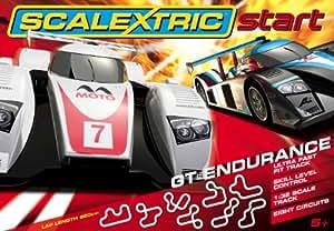 scalextric c1251 v hicule miniature start circuit de voitures electriques avec 2 voitures. Black Bedroom Furniture Sets. Home Design Ideas