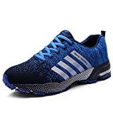 Goalsse Herren Damen Sportschuhe Laufschuhe Turnschuhe Trainers Running Fitness Atmungsaktiv Sneakers mit Mehrere Farbe(41 EU,Blau)