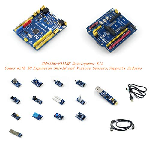 Venel Electronic Component, Xnucleo-F411Re Package A Development Kit, Comes With IO Expansion Shield and Various Sensors, Compatible With Nucleo-F411Re, Onboard Cortex-M4 Microcontroller STM32F411Ret6 (Pc Build-tool-kit)