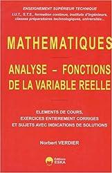 Mathématiques : analyse, fonctions de la variable réelle, tome 1