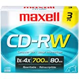 Maxell 630030 CD-RW 700MB 3 Pack Discs
