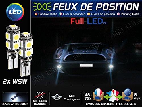 MyAutoLight - Ampoules Feux de position LED - Countryman- W5W blanc Xénon