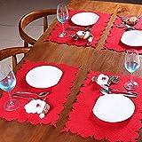 Yunt Tovagliette Natalizie, Lovely Dining Felt Mat Cucina tavolo da pranzo Decorazioni natalizie