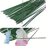 Yalulu 50 Stück 40CM Metall Pflanzen Pflanzstützen Blumenstab Rankstange Rankstab