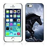 Graphic4You Pferd Tier Design Harte Dünn Hülle Tasche Schale Schutzhülle für Apple iPhone SE / 5 / 5S