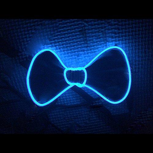 Bonamana LED Fliege Kostüm Zubehör für Weihnachten Neujahr Rave Party Leuchten BowTie (Blau)
