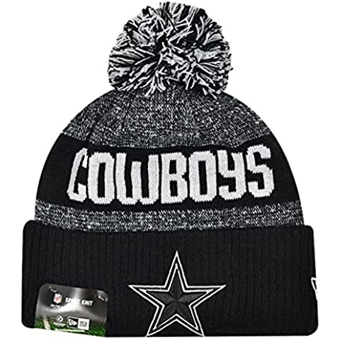 Dallas Cowboys NFL Sideline Nero su Field 2016 Sport Knit Beanie