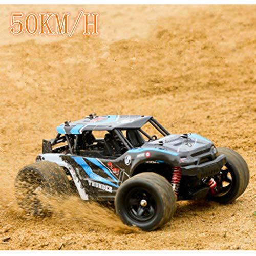 bloatboy Remote Buggy Ferngesteuerter Geländewagen - 2.4G 4WD High Speed 50 km/h Ferngesteuerter Offroad-Rennwagen (Blau)