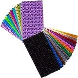 Big Briks - Pack de 24 bases para construir - Compatible con todas las grandes marcas - Tacos grandes - 24 colores - 19,05 x 9,53 cm