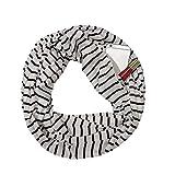 Luoluoluo Sciarpa Donna Invernale, Sciarpa da Viaggio, Sciarpa Infinity con Tasca Nascosta con Cerniera Nascosta (bianco)