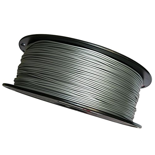 Uniqstore Silber 3D Drucker Filament Metall PLA 1,75mm 1 KG Spule Druck Material PLA Blended Splitter Metall Metallic Silbrig Stahl Material