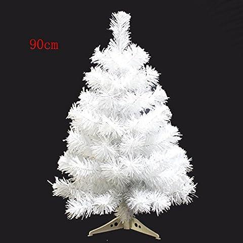 Quibine 3ft / 90cm Künstlich Qualitäts üppig Mini Weihnachtsbäume mit