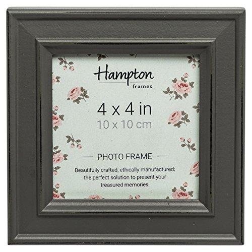 Hampton Frames Paloma Cadre Photo carré, Bois, Gris, 14.5 x 14.5 x 2.5 cm