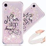 HMTECH iPhone XR Coque de Luxe Gel Étui de Protection Liquide Silicone Souple...