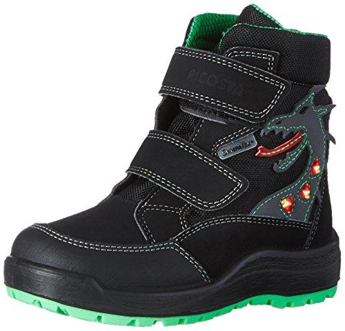 RICOSTA Pepino Jungen Winterstiefel GRISU, WMS: Weit, wasserfest, Winter-Boots Outdoor-Kinderschuhe gefüttert wasserdicht,schwarz,31 EU / 12 UK