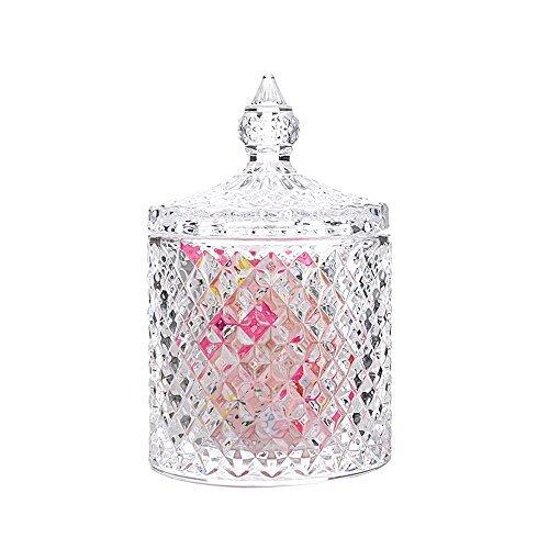 Rainie Love Home Basic Lebensmittel Aufbewahrung Organisation set-crystal Diamant facettiert Jar mit Kristall Deckel, geeignet als ein Candy Dish, Cookie Dose, Keksdose, dekorative Candy Jar - Süßigkeiten Jar Candy