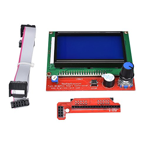 Kingprint 12864 LCD-Smart-Display-Steuerboard für 3D-Drucker mit RAMPS 1.4, inkl. Adapter und Kabel (3d Smart)