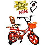 Speed Bird Robust 14-T Child Cycle - Baby Cycle For Boys & Girls - Age Group 3-6 Years (Color Orange)