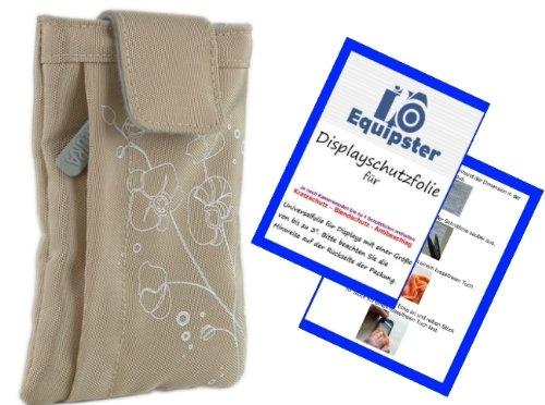 Poppige trendige Kamera Tasche in warm SAND inklusive equipster Displayschutzfolie - Kameratasche...