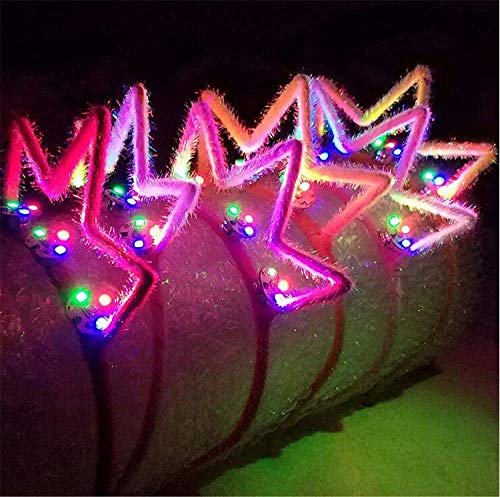 XIANGMAI Party Cosplay Kostüm Stirnband Multi-Color LED Crown Flashing Haarbänder Kopfschmuck Glowing Party Supplies Haarband 5 Teile/Paket(Style - Kostüm Populare