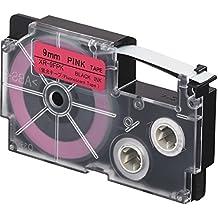 Casio XR-9FPK Negro sobre rojo cinta para impresora de etiquetas - Cintas para impresoras de etiquetas (Negro sobre rojo, 9 mm, 5,5 m)
