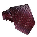 Panegy Corbata para Hombre - Patrón de Tartán Rojo -145cm