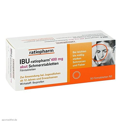 Ratiopharm Ibu-ratiopharm 400 mg akut Schmerztabletten, 50 St.