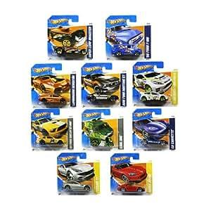 set of ten random hot wheels cars toys games. Black Bedroom Furniture Sets. Home Design Ideas