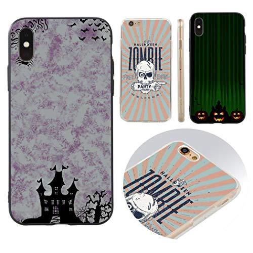 Huhuswwbin Halloween Night Handy Tasche Kunststoff Case Cover für iPhone X/8/7/6-1# für iPhone 6/6S