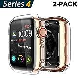 Yolin [2-Pack] Apple Watch Series 4 Schutzhülle, iwatch case Weiche Ultradünne TPU iwatch Bildschirmschutz All-Aro& Hülle für Apple Watch Serie 4 44mm