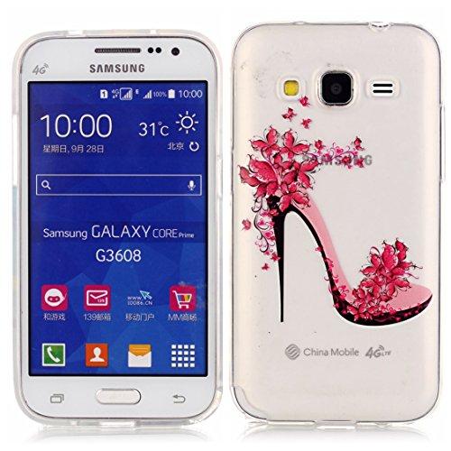 Samsung Galaxy Core Prime G360 Coque, AYASHO® Ultra Mince Motif Matériel De TPU de téléphonie mobile De Silicone Housse Pour Samsung Galaxy Core Prime G360  Core Prime VE Value Edition G361, M08