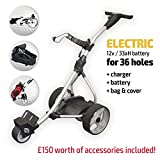 Best Electric Golf Carts - Electric Golf Trolley (Silver) Review