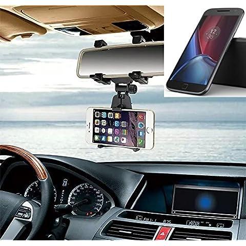 Supporto Smartphone specchietto retrovisore per lenovo Moto G (4. Gen.)