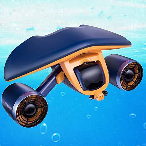 YANKAN Scooter sous-Marin, Explorateur Submersible Électrique Imperméable Double Vitesse Hélice Piscine De Plongée Jouets Natation Enfants Rechargeable Navigation Blanc