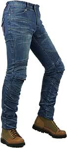 Youcai Herren Damen Motorradrüstung Motorradhose Stretch Slim Fit Sportliche Motorrad Jeans Mit Protektoren Schutzauskleidung Xl Blau Auto