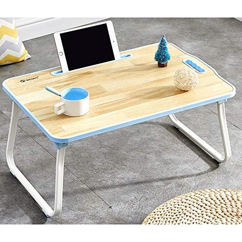 SSHHM Lernen Tisch,Computer-Tische, Kinder Multifunktionstisch,Zusammenklappbar Für Einfache Lagerung Dauerhaft/Blau / 60×40×28 cm -