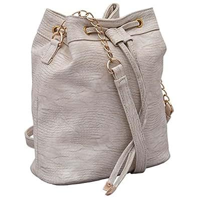 Lychee Bags Women's Sling Bag (Off-White,Lbhbpu42Cr)