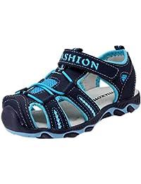 Sandalias para Bebés Xinantime Zapatos para niños pequeños Zapatos cerrados Baby Boy Girl Sandalias de playa de verano Zapatillas (34, Azul oscuro)