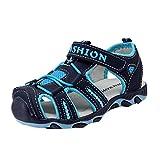 Sandalias para Bebés Xinantime Zapatos para niños pequeños Zapatos cerrados Baby Boy Girl Sandalias de playa de verano Zapatillas (26, Azul oscuro)